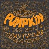 Poster pumpkin Royalty Free Stock Photo
