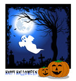 Poster with pumpkins for halloween Stock Photo