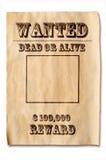 Poster querido com recompensa fotos de stock royalty free