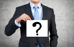 Poster with question mark Royalty Free Stock Photos