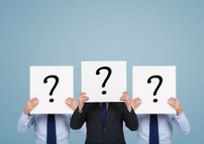 Poster with question mark Stock Photo