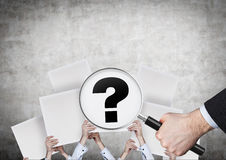 Poster with question mark Stock Images