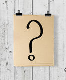 Poster with question mark Royalty Free Stock Photography