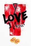 Poster red kimono Stock Photo