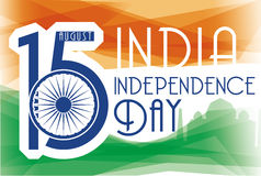 Poster with Reminder Date for Independence Day of India, Vector Illustration Stock Photos