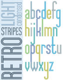 Poster retro bright condensed font, striped compact light lowerc Royalty Free Stock Photography