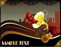 Poster retro da música do art deco Imagens de Stock