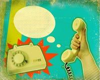 Poster retro de uma comunicação ilustração do vetor