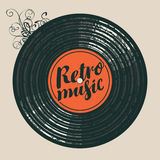 Poster for the retro music with vinyl record. Vector poster for the retro music with vinyl record Royalty Free Stock Photography