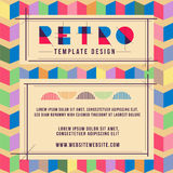 Poster Retro Template. Retro template design for poster or another advertising Royalty Free Stock Images