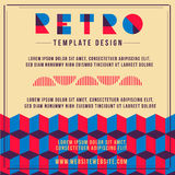 Poster Retro Template. Retro template design for poster or another advertising royalty free illustration