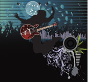 Poster,rock festival band. Easy to edit/move.Vector Stock Image