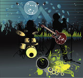 Poster,rock festival band. Easy to edit/move.Vector Royalty Free Stock Photos