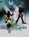 Poster,rock festival band. Easy to edit/move.Vector Stock Images