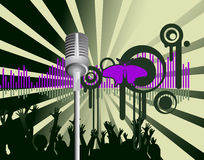 Poster,rock festival band. Easy to edit/move.Vector Stock Photo