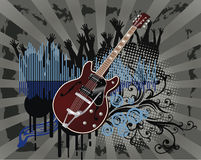 Poster,rock festival band. Easy to edit/move.Vector Royalty Free Stock Image