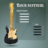 Poster for a rock festival stock photos