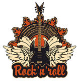 Poster for a rock and roll Stock Photography