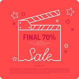 Poster discount sale.. Original concept poster discount sale. Sale banner. Vector illustration Stock Photos