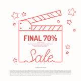 Poster discount sale.. Original concept poster discount sale. Sale banner. Vector illustration Stock Photo