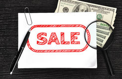 Poster with sale Stock Image
