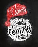 Poster Santa Claus chalk stock illustration