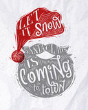 Poster Santa Claus Royalty Free Stock Image