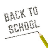 Poster school Educational back to school written on paper in a cage. Vector Stock Photography