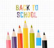 Poster school Educational back to school written on paper in a cage. Vector Stock Images