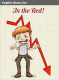 A poster showing a boy with an arrow Royalty Free Stock Photo