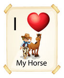 A poster showing the love of a horse Stock Photo