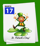 A poster showing St. Patrick's day Stock Photography