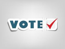 Poster with sign vote Stock Images