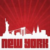 Poster with silhouette of  New York Royalty Free Stock Images