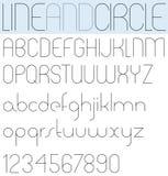 Poster slim elegant black font Stock Images