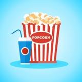 Poster snacks at cinema Stock Image