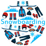 Poster snowboarding Royalty Free Stock Photo
