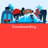 Poster snowboarding Royalty Free Stock Image