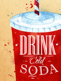 Poster Soda water Royalty Free Stock Photos