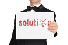 Poster with solution Royalty Free Stock Photography