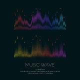Poster of the sound wave from equalizer Stock Images