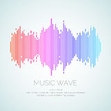 Poster of the sound wave from equalizer. Vector illustration on dark background Stock Images