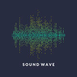 Poster of the sound wave from equalizer. Vector illustration on white background Royalty Free Stock Photography