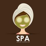 Poster spa. Spa poster design,  illustration eps10 graphic Stock Image