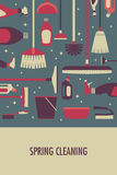 Poster for Spring Cleaning. A vector illustration of poster for spring cleaning Royalty Free Stock Photography