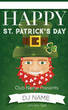 Poster for St. Patricks Day Party. Vector illustration. Poster for Happy St. Patricks Day Party. Vector illustration. Template for club flyers or restaurant Royalty Free Stock Photography