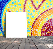 Poster standing on mosaic tile Stock Photography