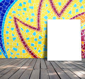 Poster standing on mosaic tile Royalty Free Stock Images