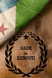 Poster for the state of Djibouti Royalty Free Stock Image