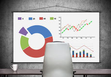 Poster with stock chart Royalty Free Stock Photography